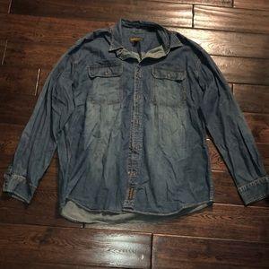 Timberland MensXL Denim ButtonUp Shirt Casual/Work